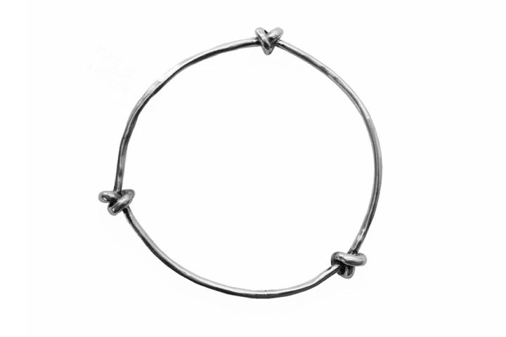 Silver triple knot bangle