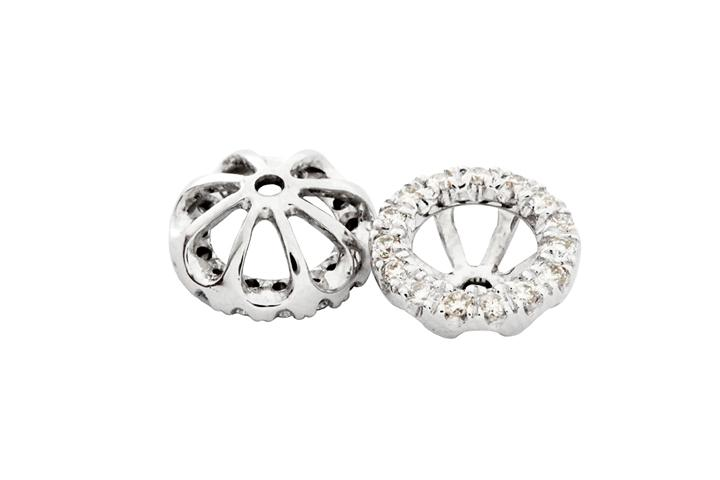 18ct White Gold and Diamond Earring Jackets