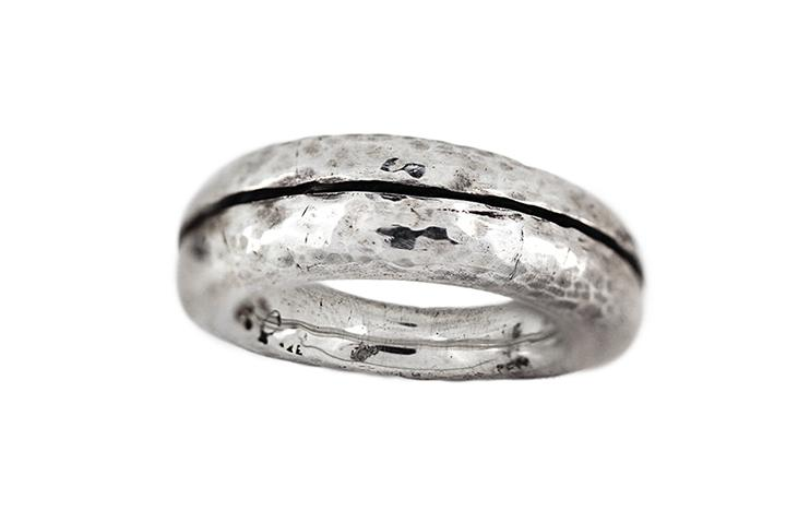 Silver Forged Gents Ring