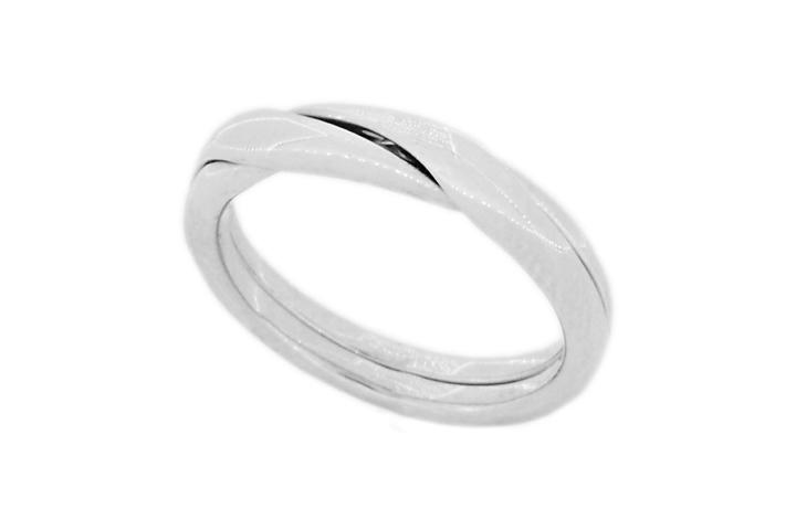 Silver 2 piece puzzle ring