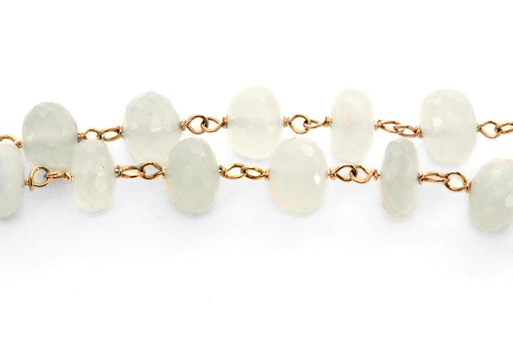 9ct Yellow Gold and Chalcedony Necklace - 50% OFF!