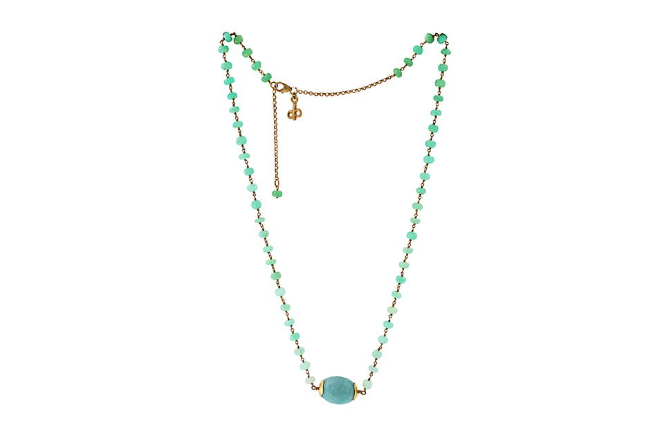 Amazonite & Chrysoprase Necklace - 50% OFF!