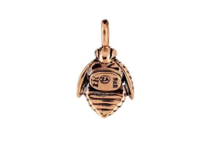 African Honey Bee Pendant in 9ct Rose Gold