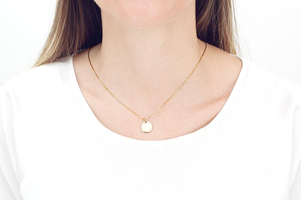 9ct Yellow Gold Disc (small)
