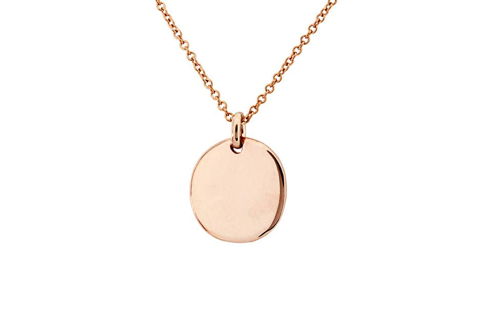 9ct Rose Gold Disc (small)