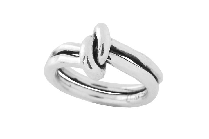Silver Gents Knot Ring