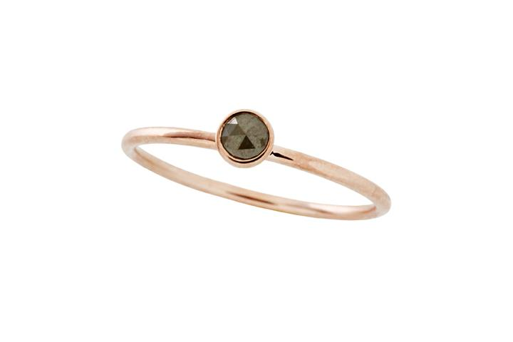 9ct Rose Gold and Polki Diamond Ring