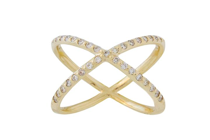9ct Yellow Gold and Diamond Orbit Ring
