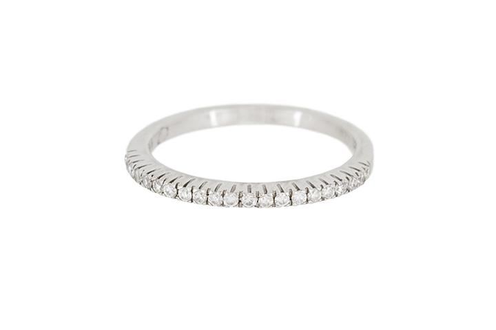 White Gold & Diamond Half Eternity Ring