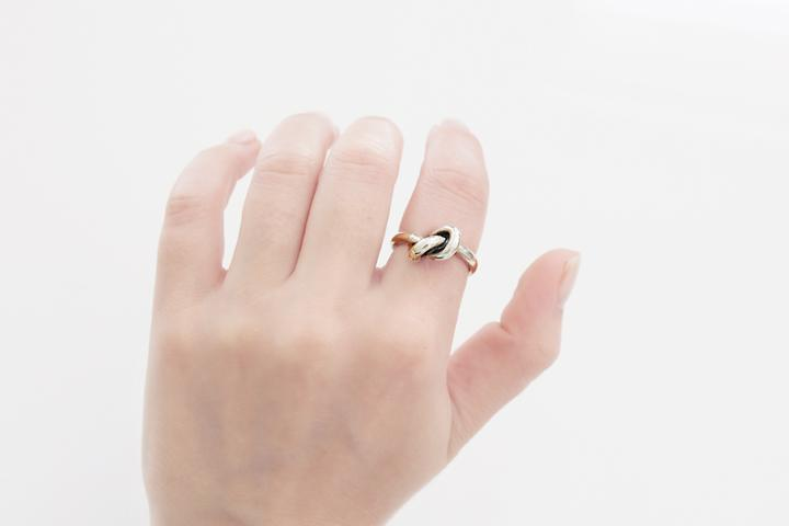 Oxidised Silver Knot Ring (bold)