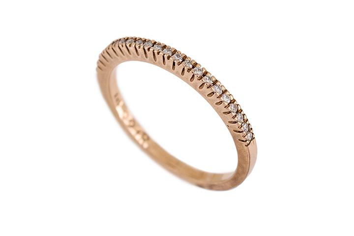 9ct Rose Gold and Diamond Half-Eternity Ring