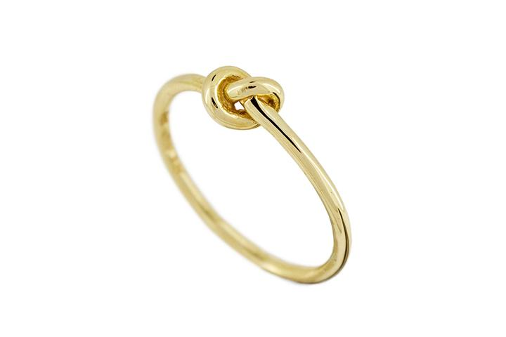 9ct Yellow Gold Knot Ring (fine)