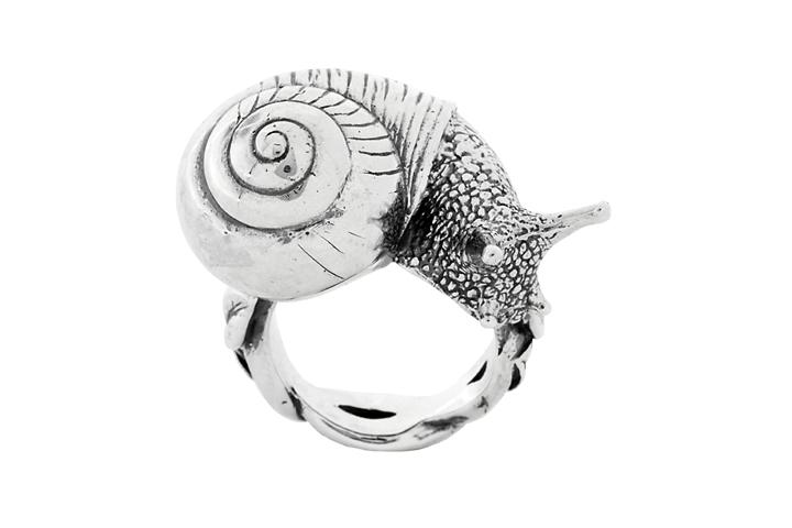 Silver Snail Ring