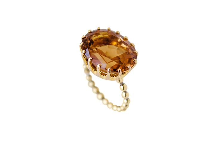 9ct Yellow Gold Orange Tourmaline Ring
