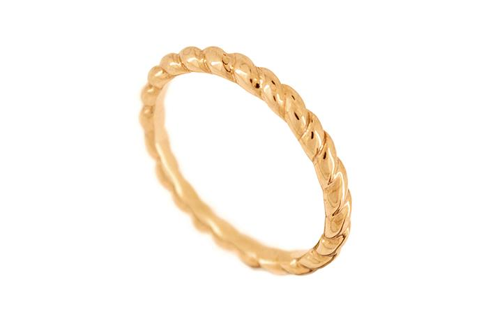 9ct Rose Gold Twisted Stacking Ring