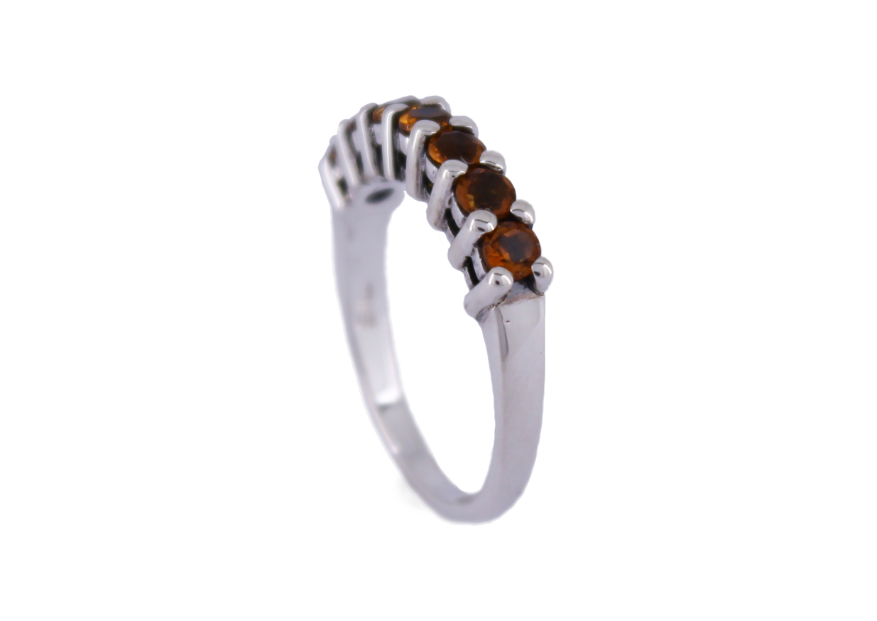 Citrine Claw Set Ring in Sterling Silver