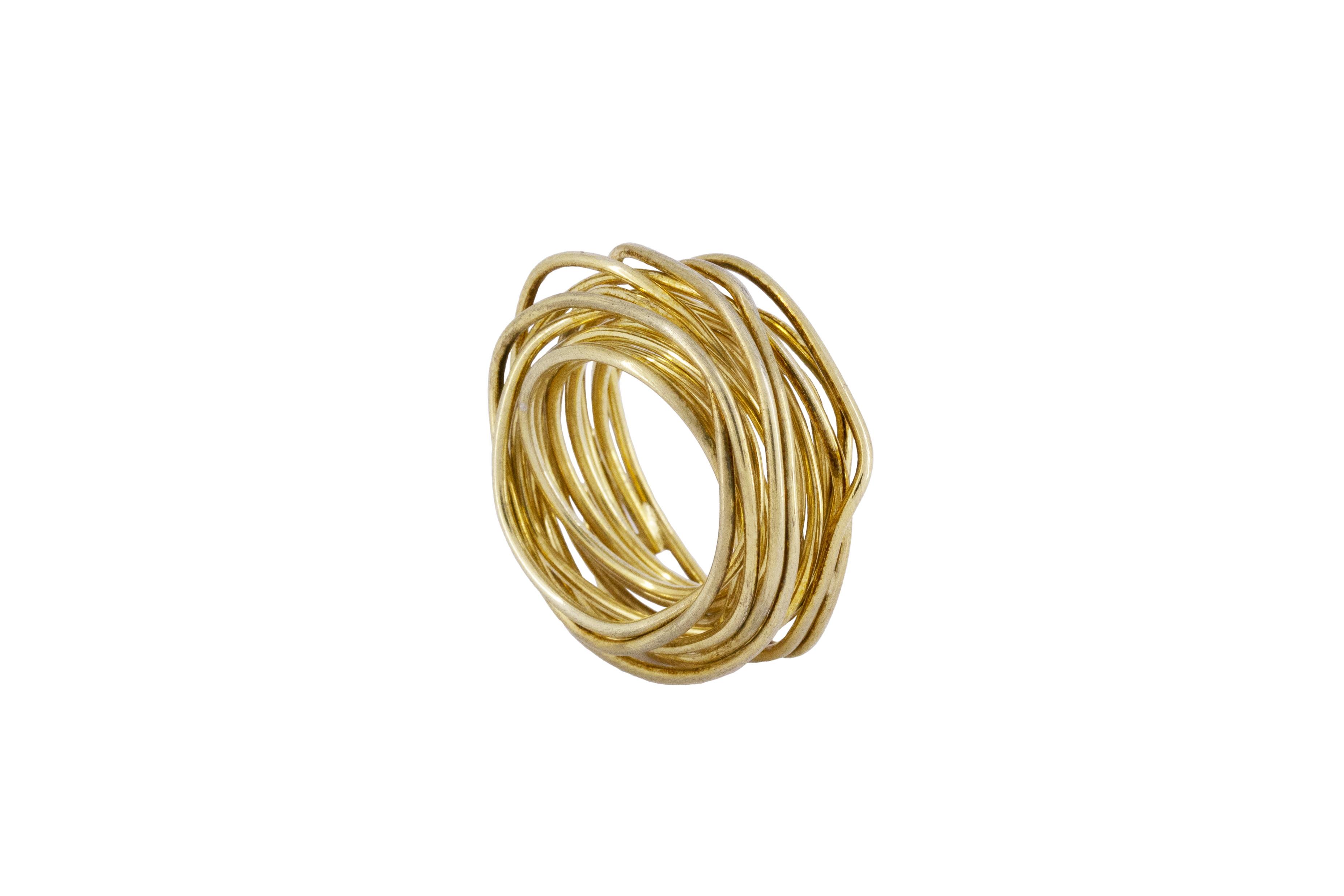 Wire Wrap Ring in Gilded Silver