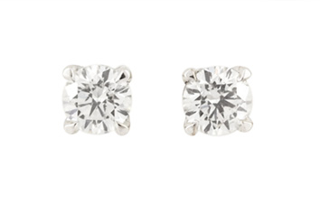 18ct White Gold Diamond Studs