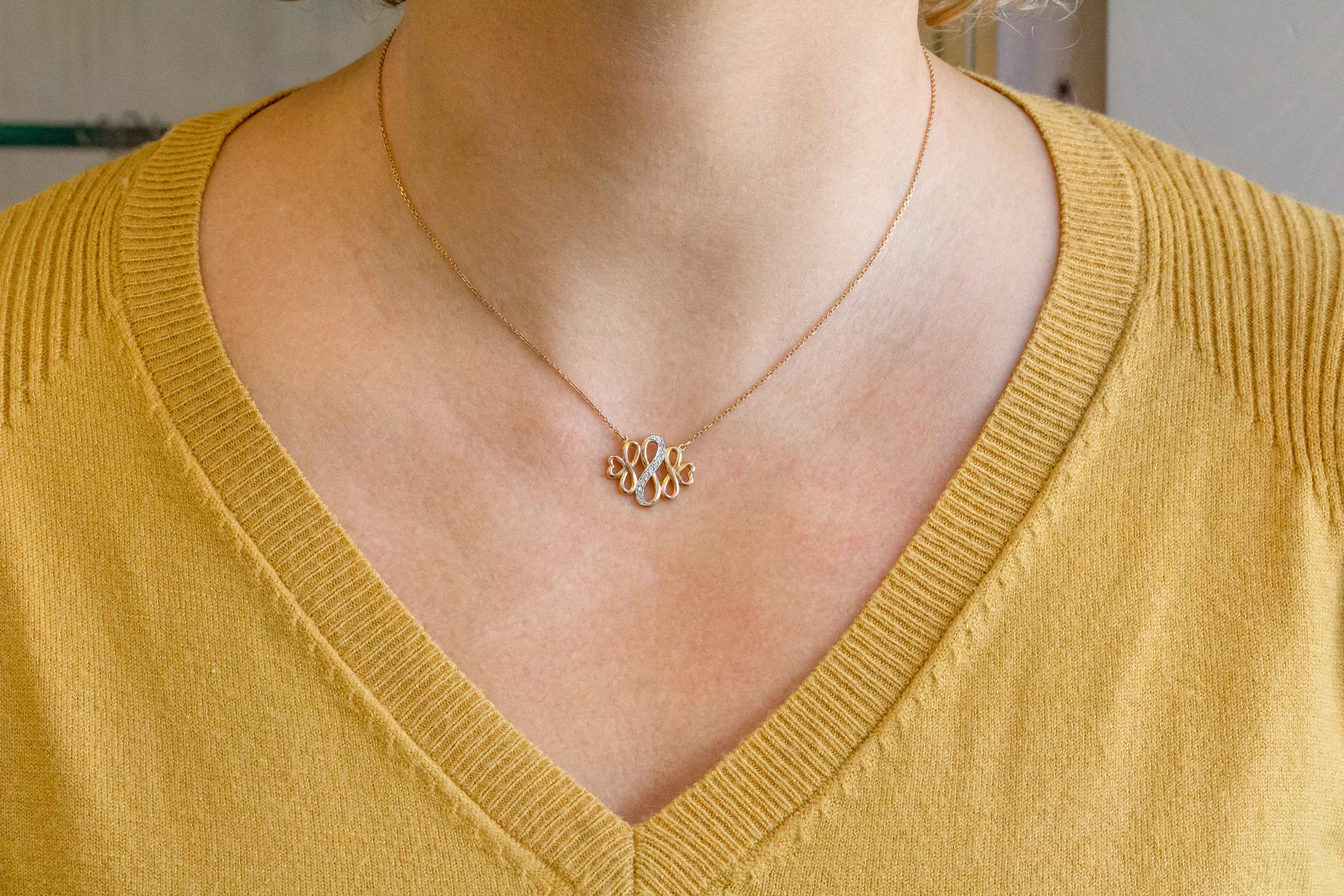 INFINITY Necklace in 9ct Rose Gold