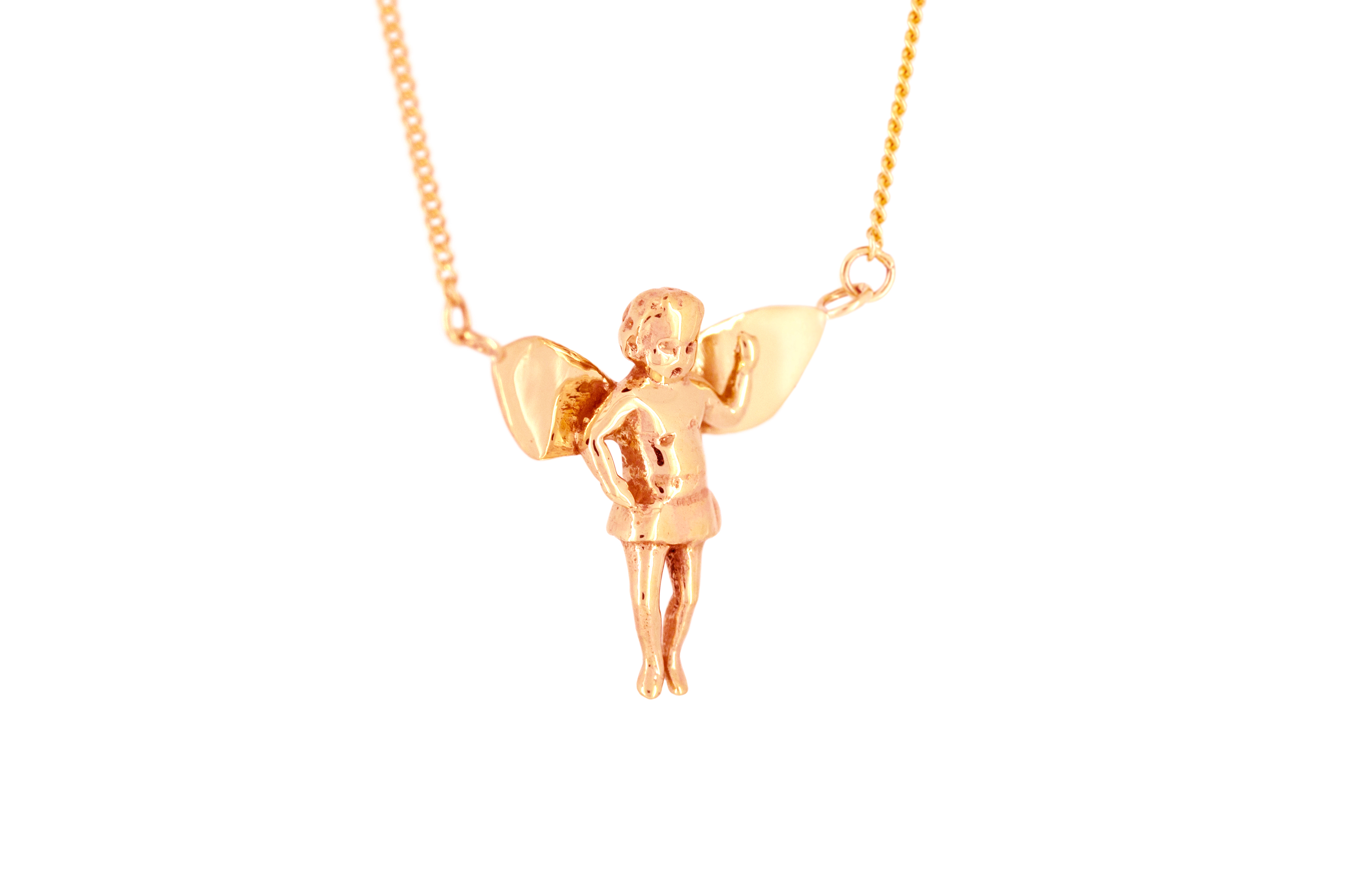 Baby Angel Necklace in 9ct Rose Gold