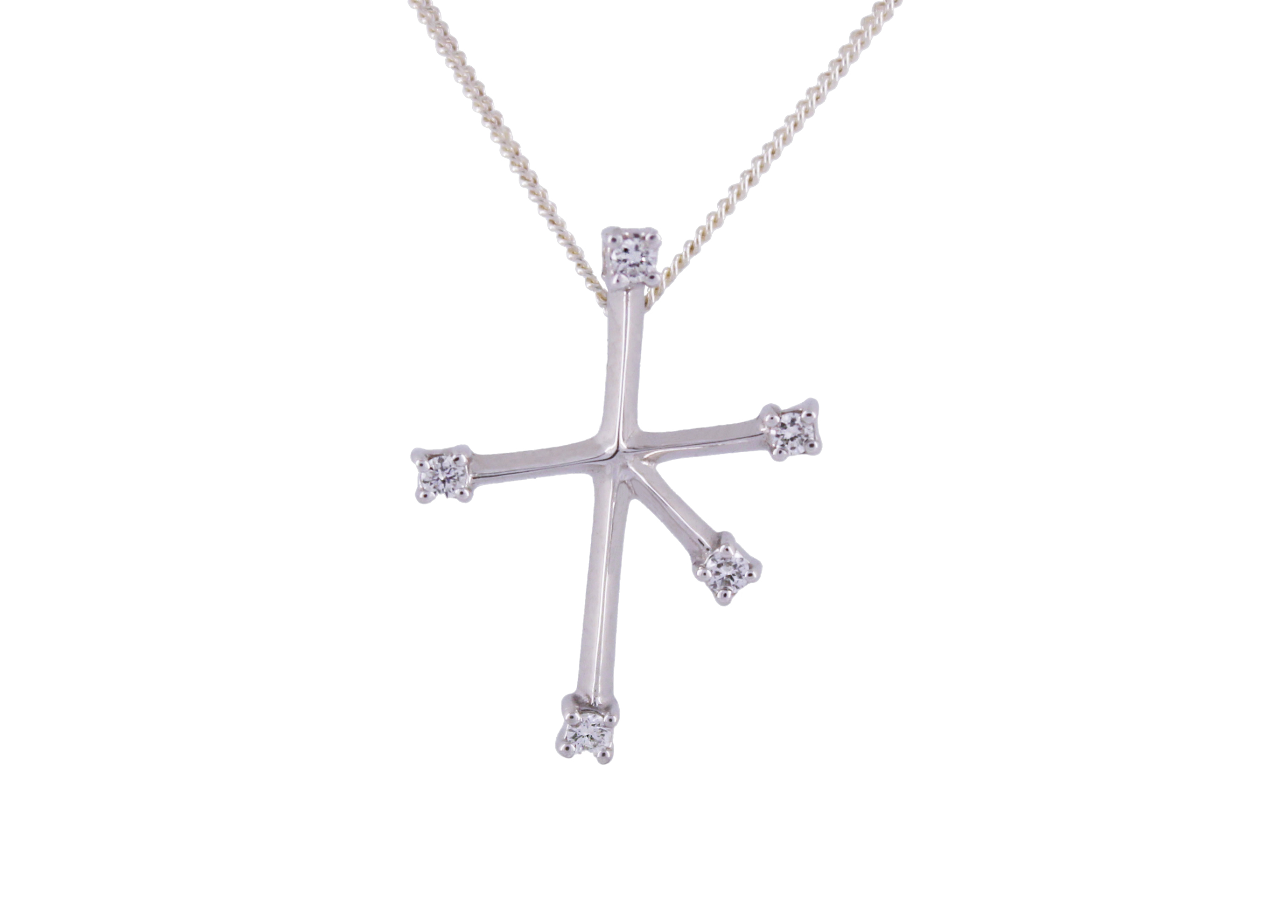 Diamond Southern Cross in 9ct White