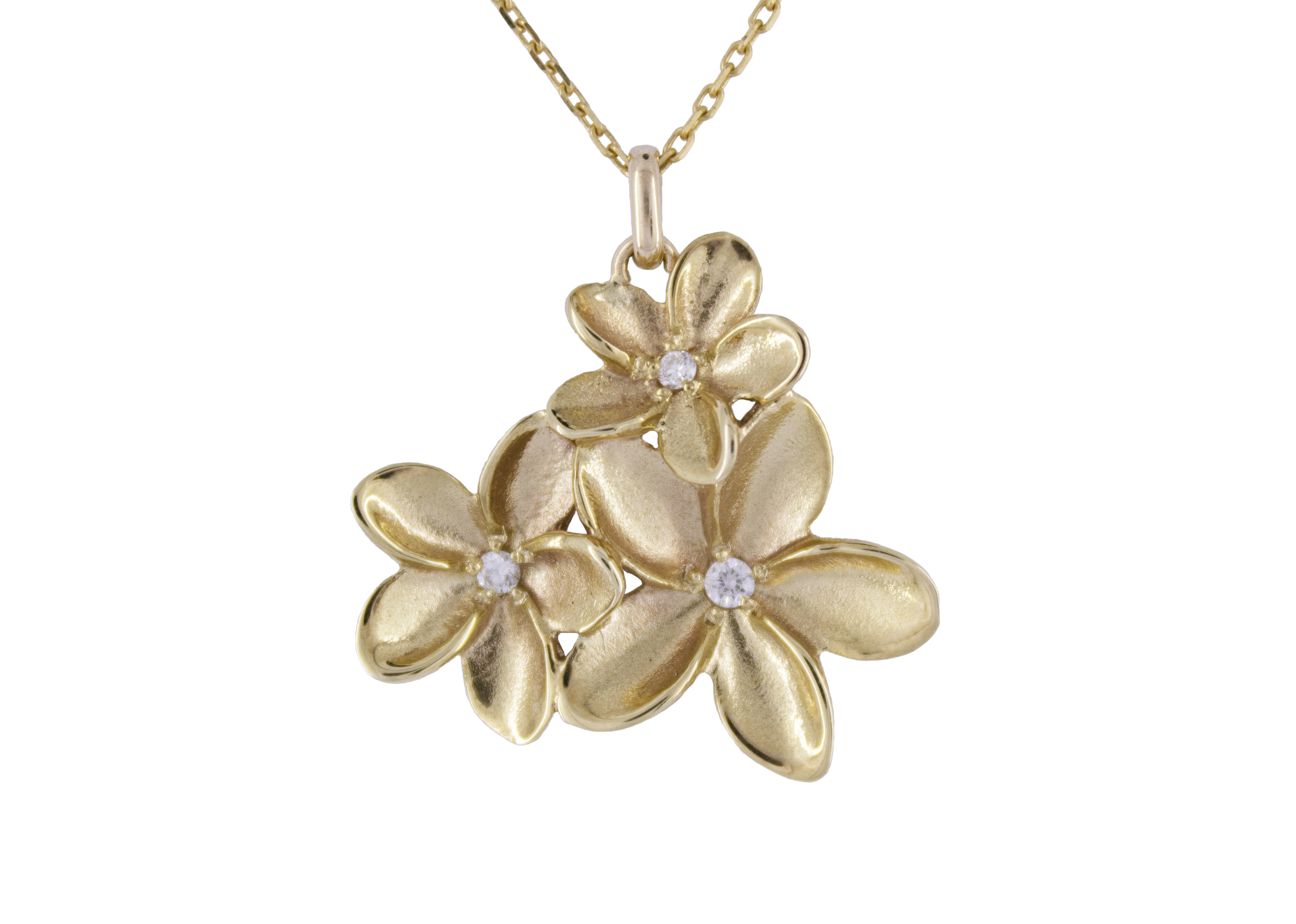 Frangipani Diamond Cluster in 9ct Yellow Gold