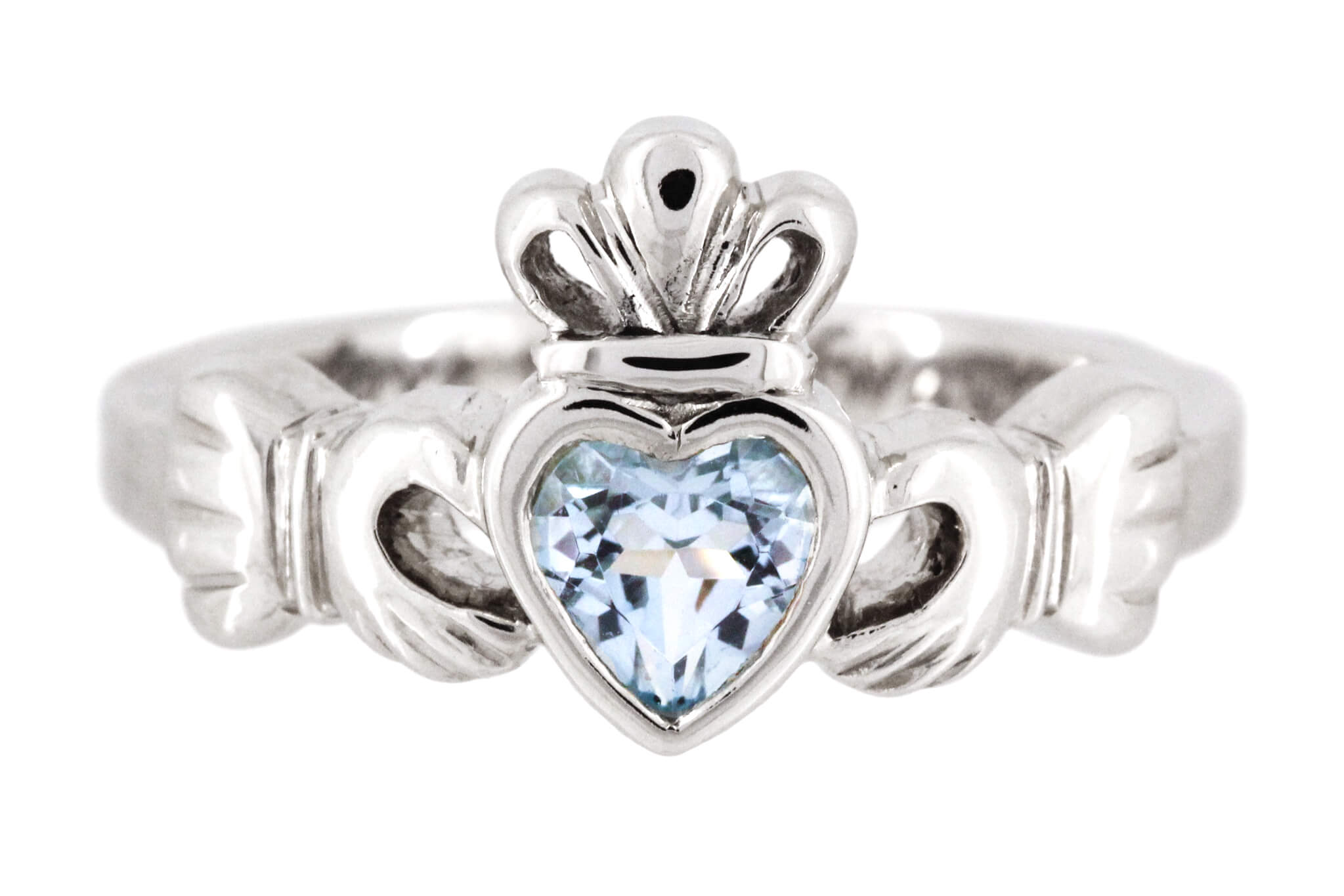 Blue Topaz Claddagh Ring A