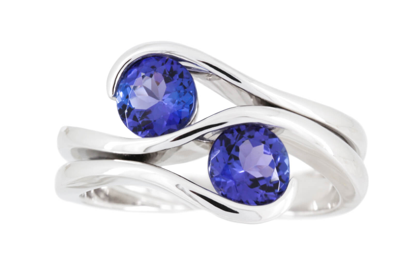Double Tanzanite Ring   1