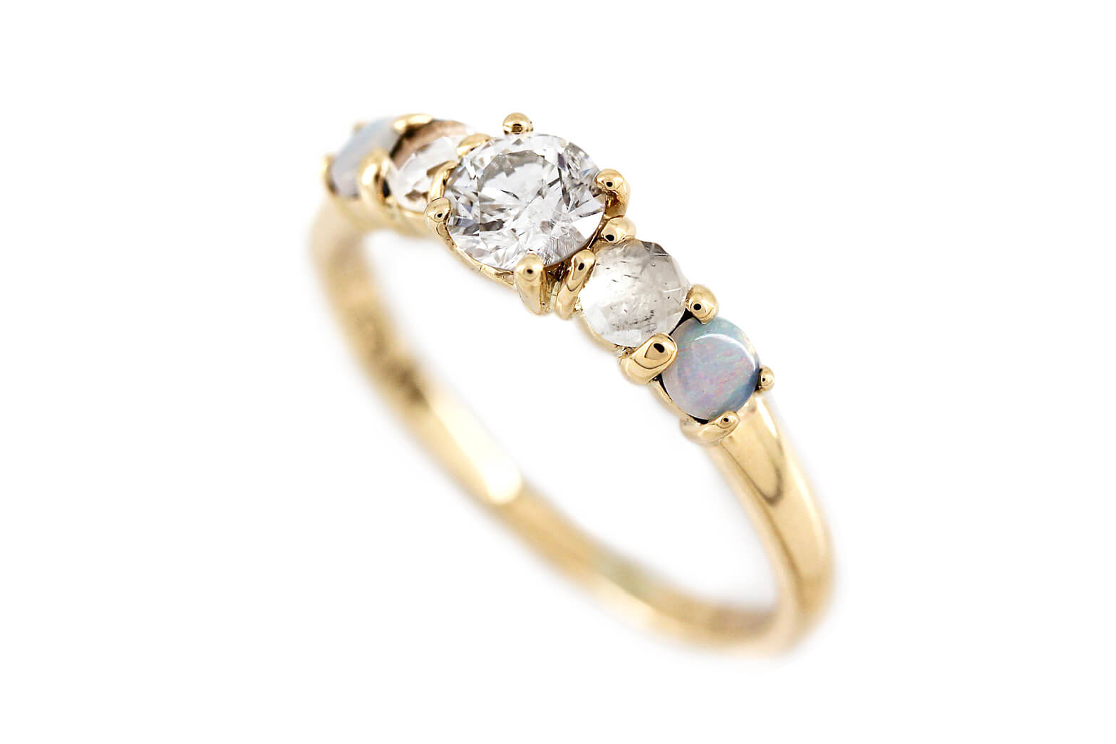 Diamond Opal Moonstonse Ring   1