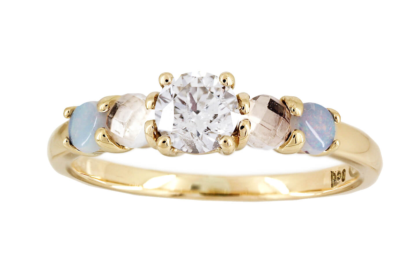 Diamond Opal Moonstonse Ring   2