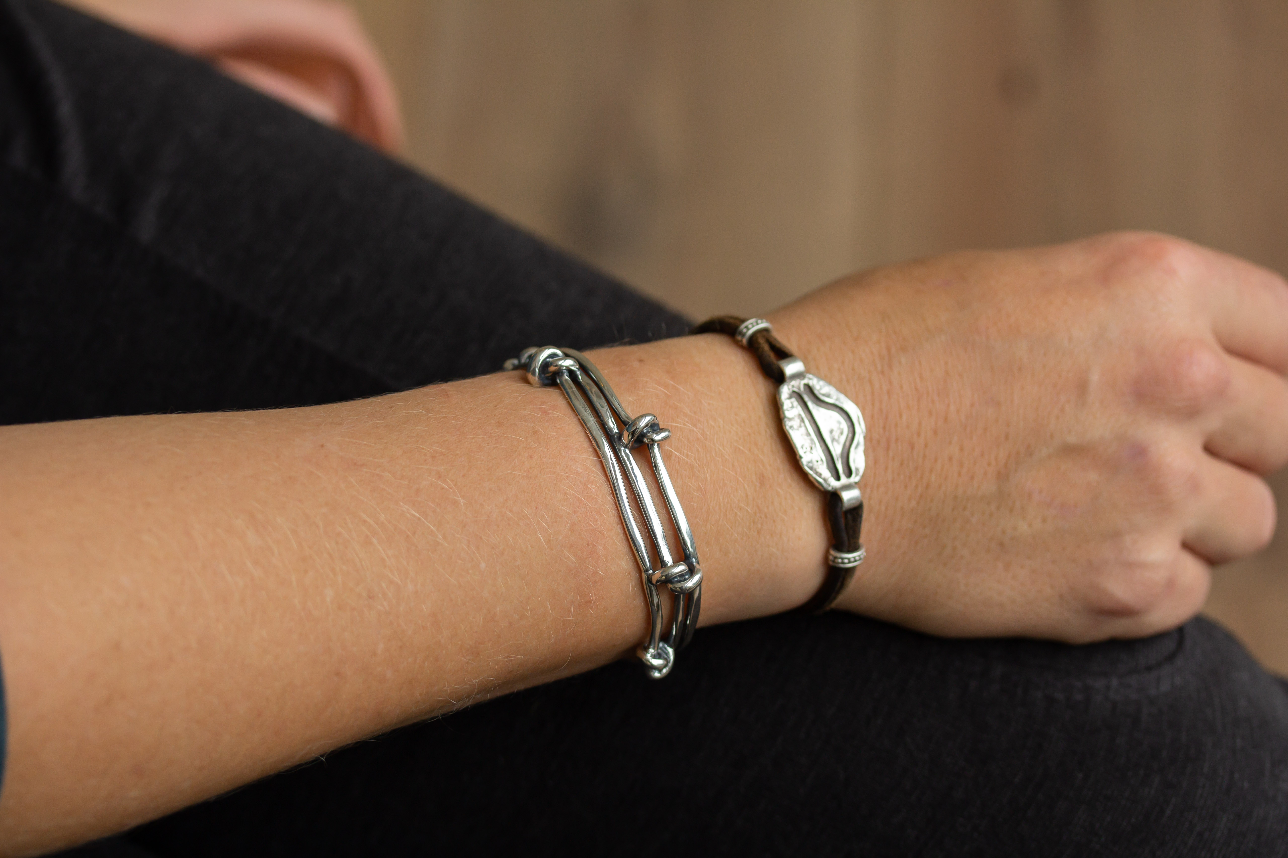 Multi Knot Cuff in Sterling Silver - Unisex