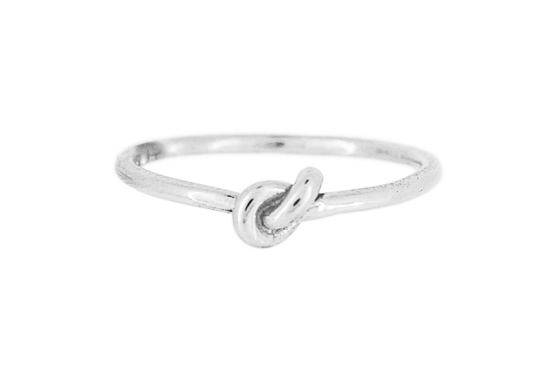 Silver Knot Ring (fine)