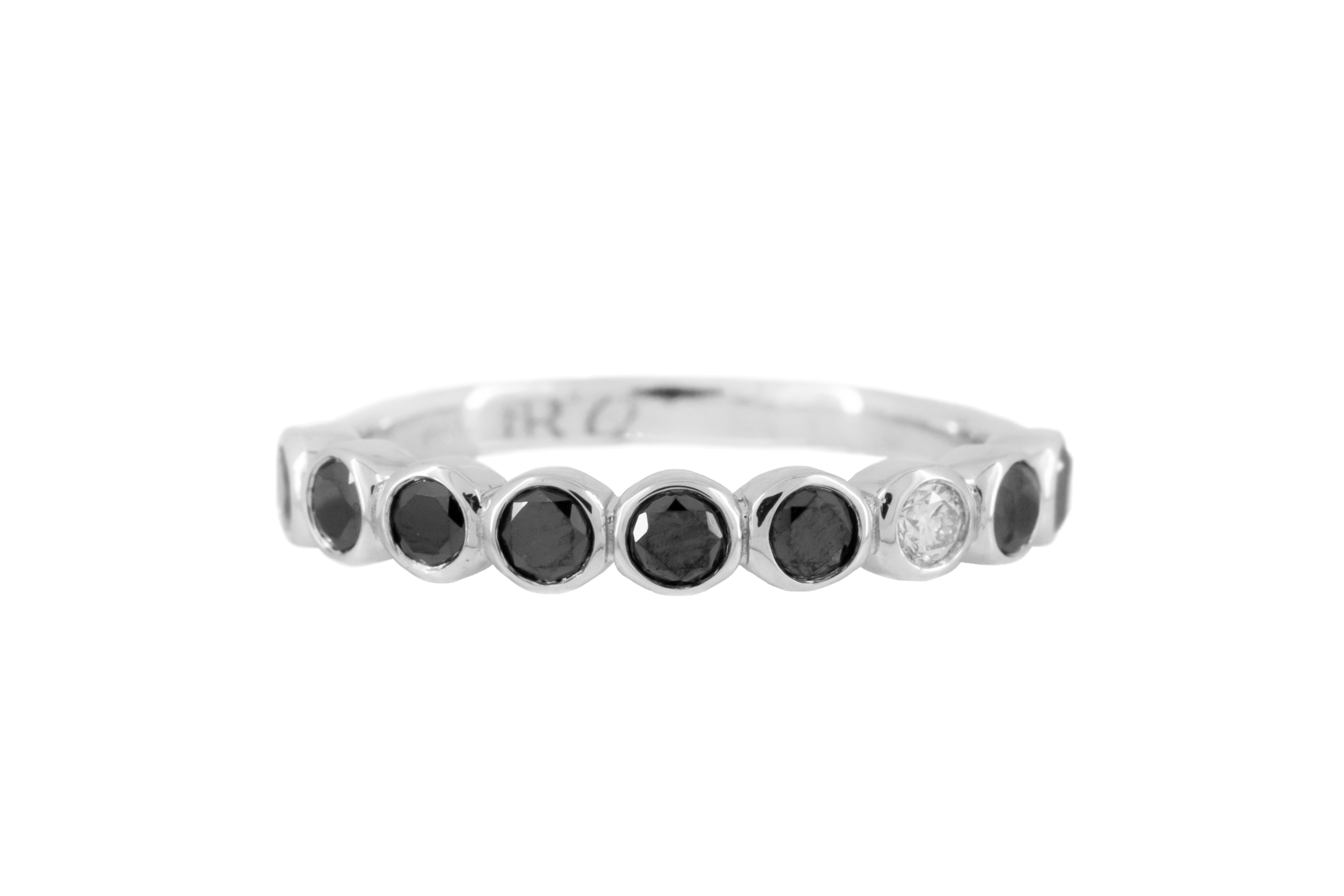 Black Sheep Half Eternity Diamond Band in 9ct White Gold
