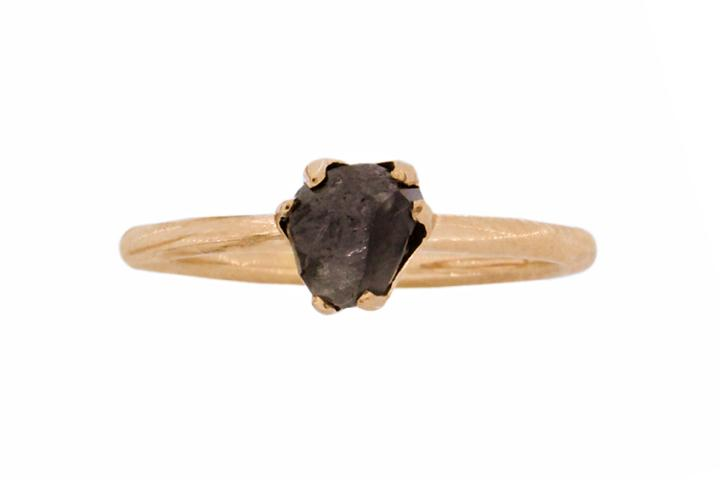 14 Facet Rough Diamond Rose Gold Ring