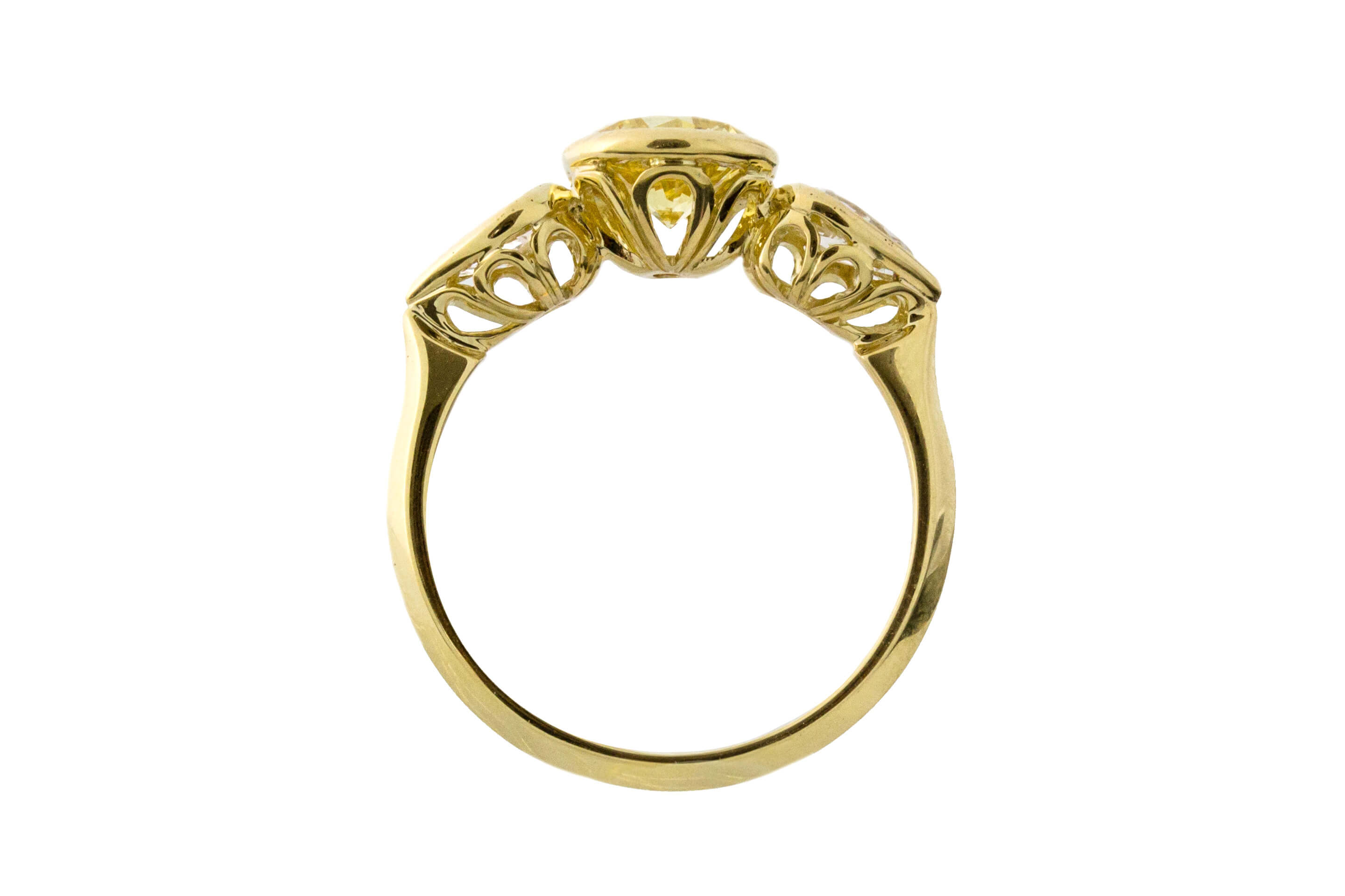 Diamond Round And Pear Ring B
