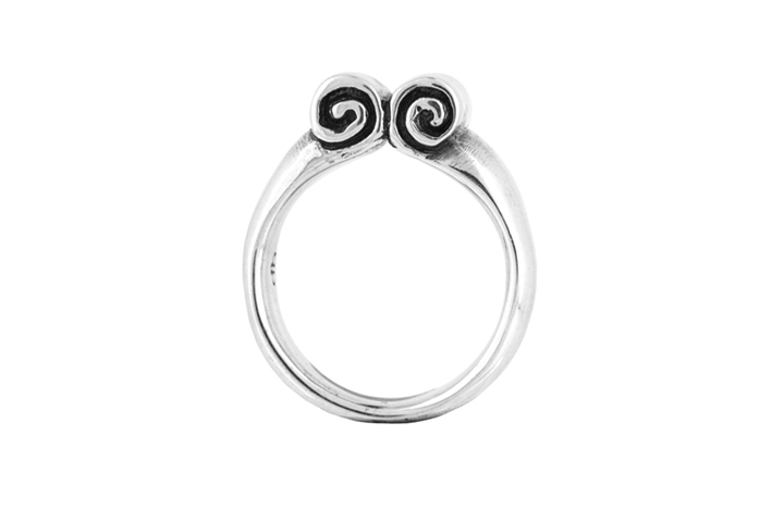 Silver Oxidised Athena Ring Alternative