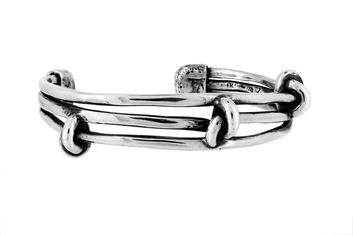 Sterling Silver Knotted Wire Bangle