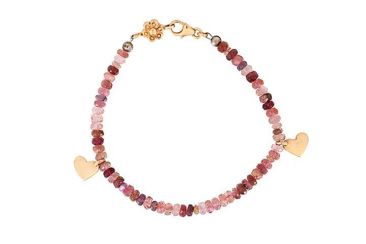 Tourmaline and 9ct Rose Gold Bracelet