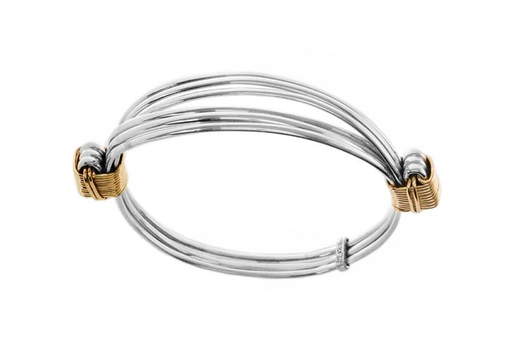 Silver & Yellow gold wire