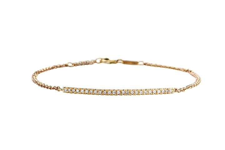 Yellow Gold Diamond Runway Bracelet