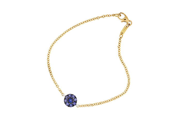 Tanzanite and 9ct Yellow Gold Bracelet