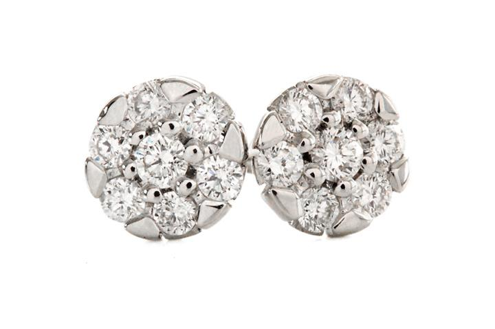 9ct White Gold and Diamond Glitz Earrings