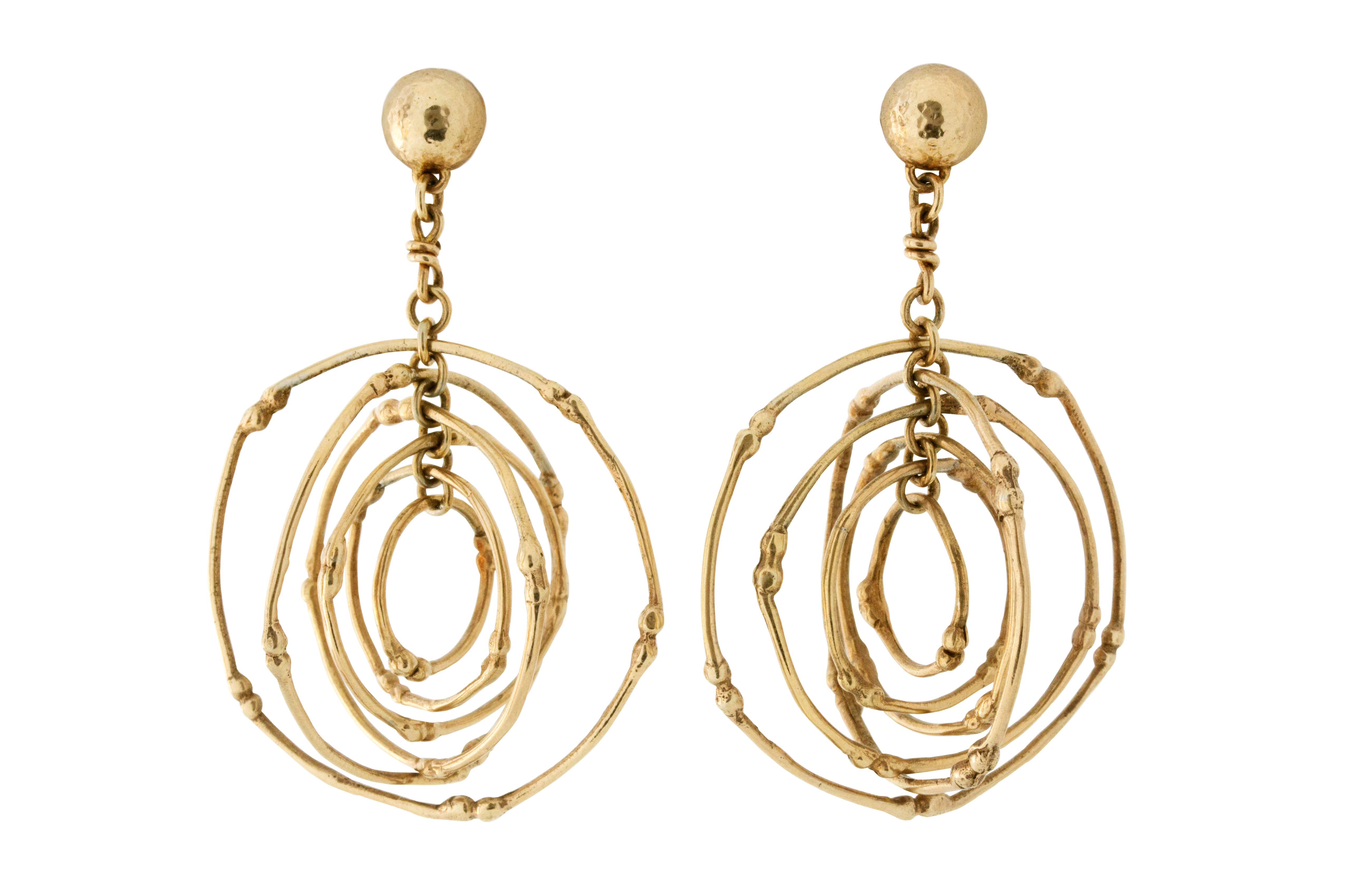 Yellow Gold Gilded, Silver Twiggy Earrings
