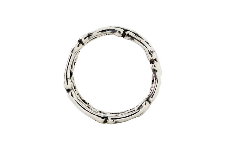 Silver Gents Bone Ring