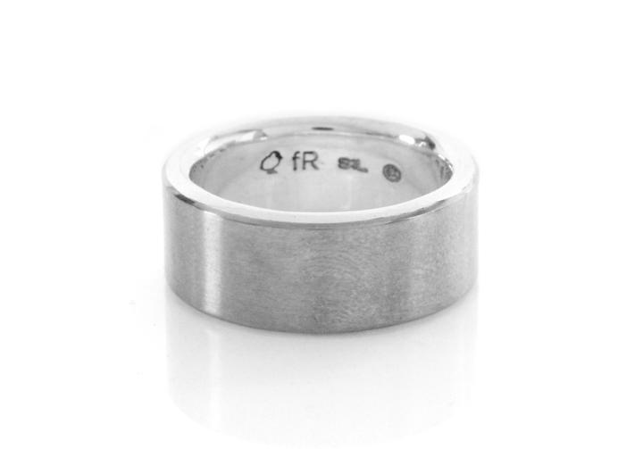 Titanium & Silver Gents Ring