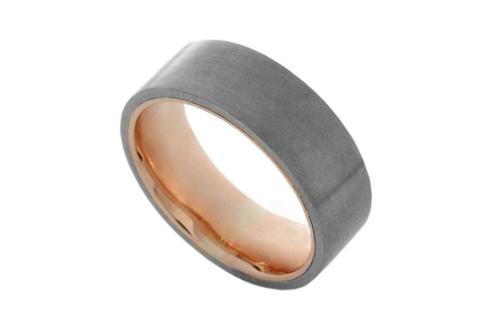 Titanium & Rose gold ring