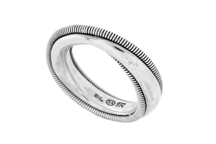 Silver Coil Infinity Ring