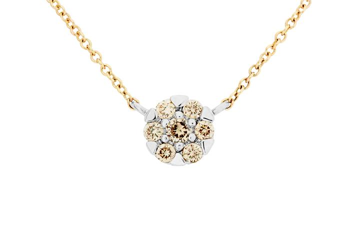Diamond Glitz Necklace in 9ct Yellow Gold and White Gold