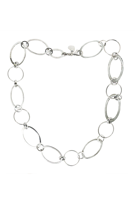 Silver Large Link Necklace