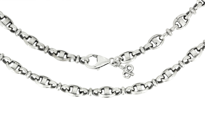 Silver Anchor Link Necklace